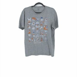 Rugrats Nickelodeon grey graphic tee shirt